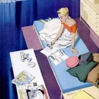 Johnson Wax Ad 1956 by Marilyn Conover