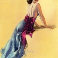 rolf armstrong peeking back